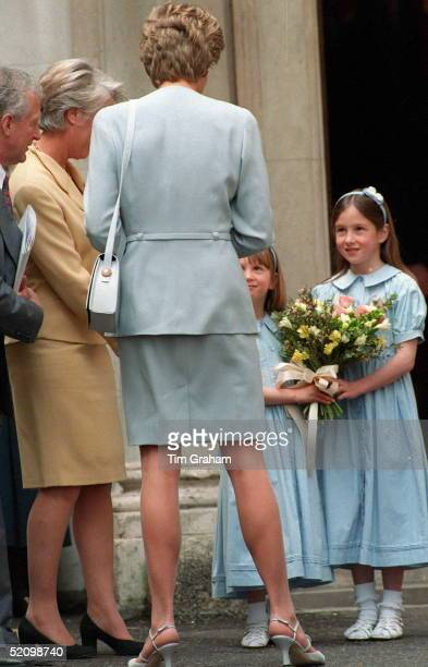 Diana Attending A Lunch For The Pied Piper Appeal At The Royal Overseas League London