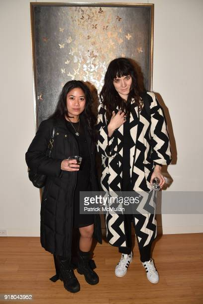 Diana Balthazar and Malgosia Garnys attend Neil Grayson Industrial Melanism solo exhibition at Eykyn Maclean Gallery on February 13 2018 in New York...