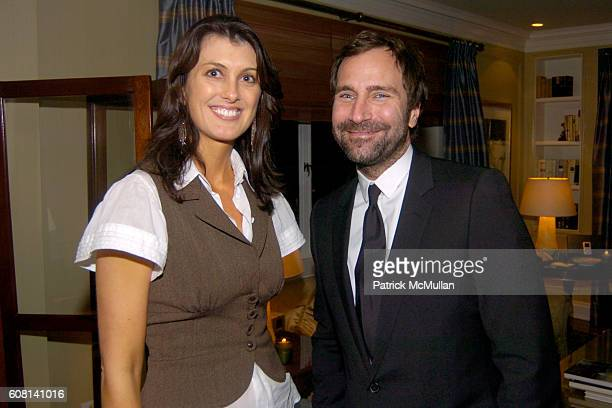 Diana Bianchini and James Costos attend MICHAEL S SMITH AGRARIA COLLECTION LAUNCH at Lowell Hotel on April 18 2007