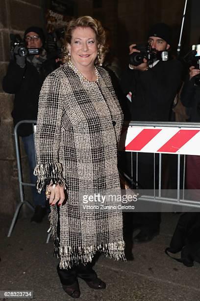 Diana Bracco arrives at the Teatro alla Scala Season 2016/17 opening at Teatro Alla Scala on December 7 2016 in Milan Italy