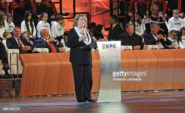 Diana Bracco attends the Closing Ceremony Expo 2015 on October 31 2015 in Milan Italy The expo has been global showcase in the city for past six...