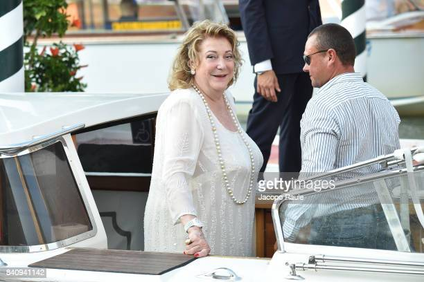 Diana Bracco is seen arriving at Hotel Excelsior during the 74 Venice Film Festival on August 30 2017 in Venice Italy