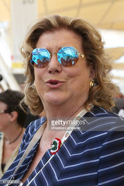 Diana Bracco visits Spain pavilion at Expo 2015 on June 15 2015 in Milan Italy