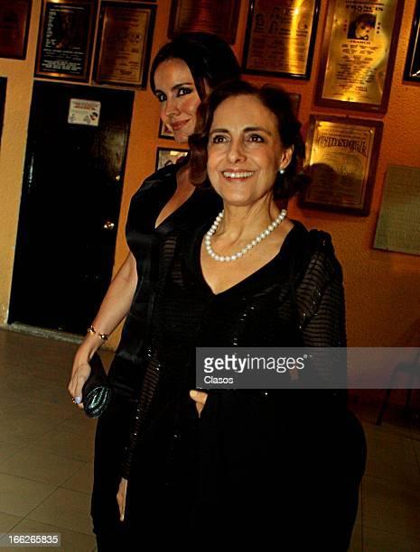 Diana Bracho and Alejandra Barros during the awards ceremony of Theatre Critics Association on April 10 2013 in Mexico City Mexico