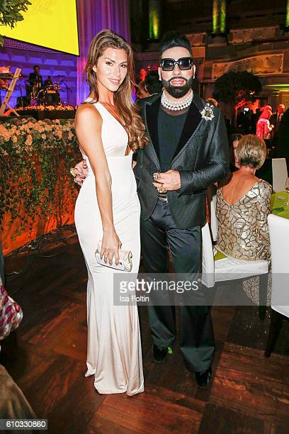 Diana Buergin and fashion designer Harald Gloeoeckler attend the7th VITA Charity Gala in Wiesbaden on September 24 2016 in Wiesbaden Germany