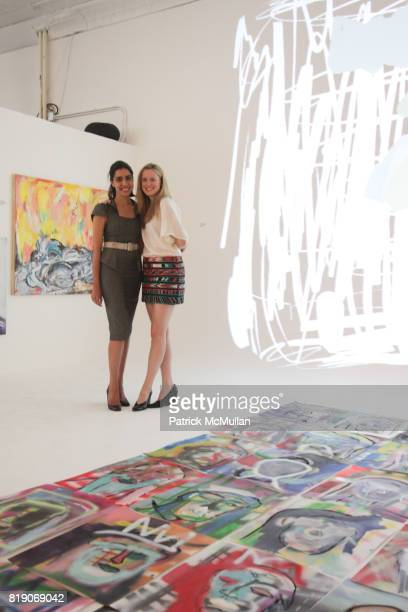 Diana Campbell and Anne Huntington attend PYT Pretty Young Thing cocurated by Anne Huntington Diana Campbell at 833 Broadway on May 22 2010 in New...