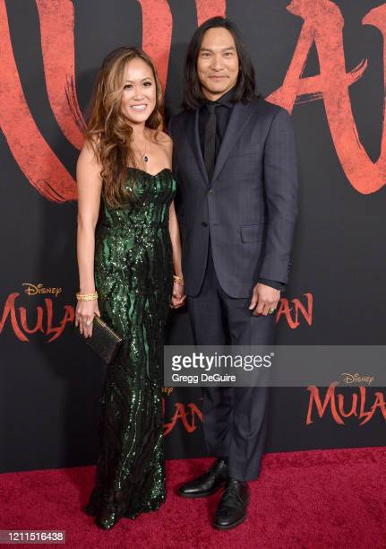 Diana Chan and Jason Scott Lee attend the Premiere Of Disney's Mulan on March 09 2020 in Hollywood California