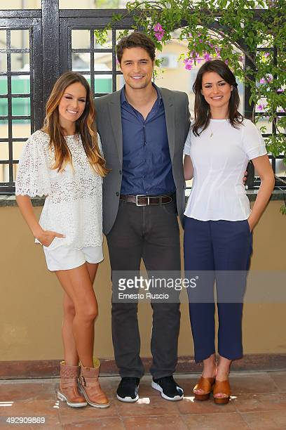 Diana Chaves Diogo Morgado and Joana Santos attend the 'Legami' Tv Series photocall at Hotel Inghilterra on May 22 2014 in Rome Italy