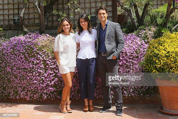 Diana Chaves Joana Santos and Diogo Morgado attend the 'Legami' Tv Series photocall at Hotel Inghilterra on May 22 2014 in Rome Italy