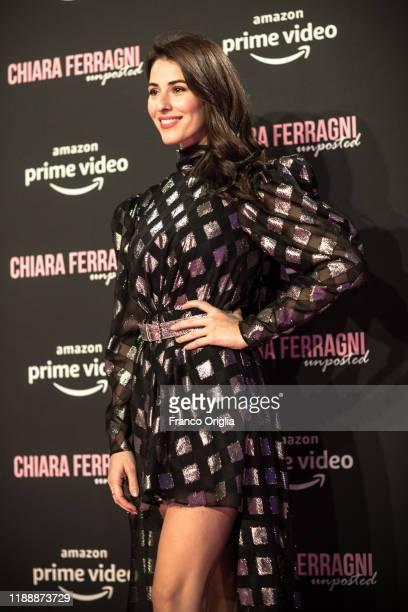 Diana Dal Bufalo attends the premiere of the movie Chiara Ferragni Unposted at the Auditorium della Conciliazione on November 19 2019 in Rome Italy