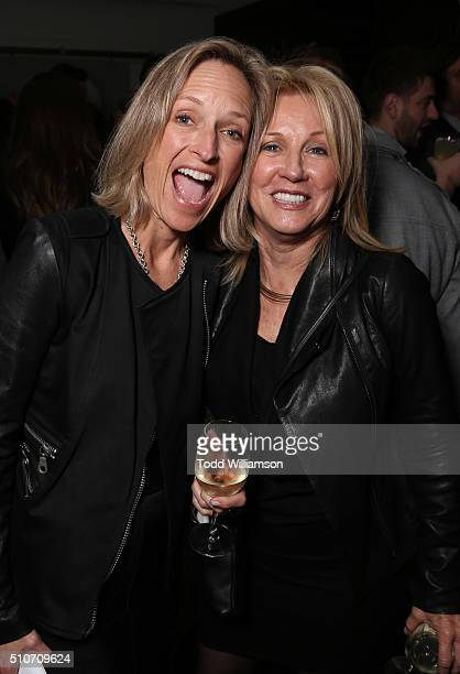 Diana Daniels and Deborah English attend the CORE Hydration At The Grammy Friends and Family Celebration at Quixote Studios on February 12 2016 in...