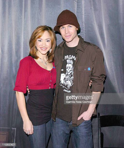 Diana DeGarmo and Ashley Parker Angel during Julie Andrews and Emma Walton Hamilton Sign Copies of the Their Newest Book The Great Mousical at Madame...