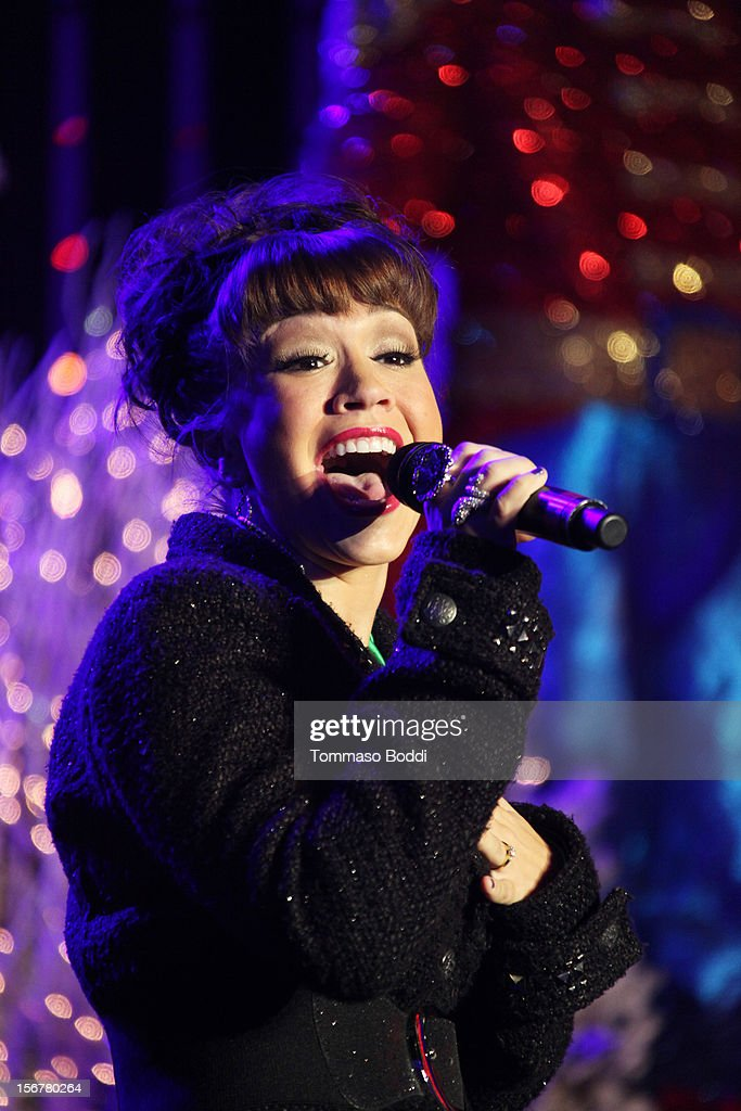 Diana DeGarmo performs at the 2012 Hollywood Christmas Parade Concert held at Universal CityWalk on November 20, 2012 in Universal City, California.