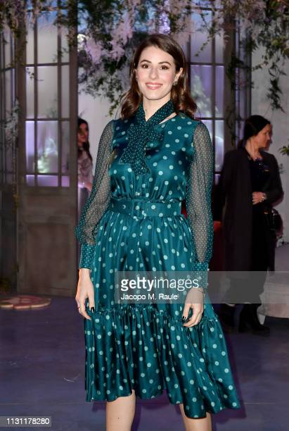 Diana Del Bufalo attend the Luisa Beccaria show during Milan Fashion Week Autumn/Winter 2019/20 on February 21 2019 in Milan Italy