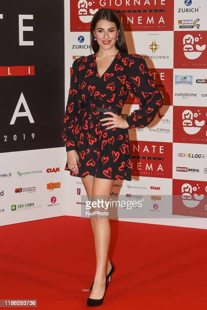 Diana Del Bufalo attends a photocall during the 41th Giornate Professionali del Cinema Sorrento Italy on 2 December 2019