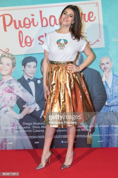 Diana Del Bufalo attends a photocall for 'Puoi Baciare Lo Sposo' on February 28 2018 in Milan Italy