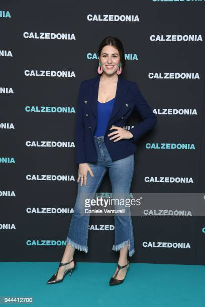 Diana del Bufalo attends the Calzedonia Summer Show on April 10 2018 in Verona Italy