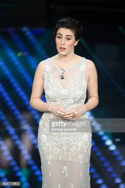 Diana Del Bufalo attends the closing night of 67th Sanremo Festival 2017 at Teatro Ariston on February 11 2017 in Sanremo Italy