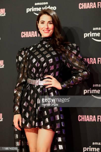 Diana Del Bufalo attends the premiere of the movie Chiara Ferragni Unposted on November 19 2019 in Rome Italy