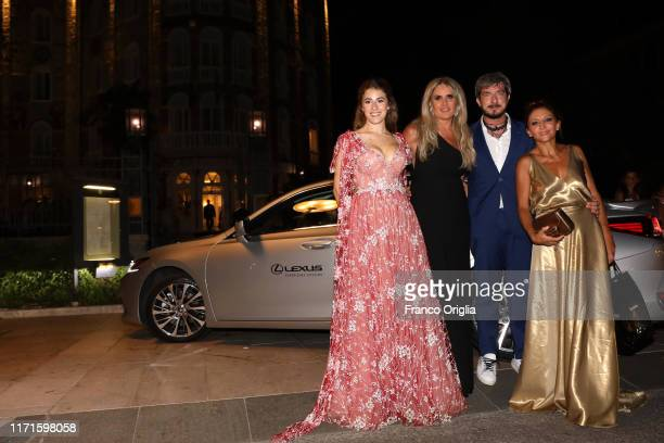 Diana Del Bufalo Tiziana Rocca Paola Minaccioni and Paolo Ruffini attend the Filming In Italy After Party Arrivals on a Lexus car during the 76th...