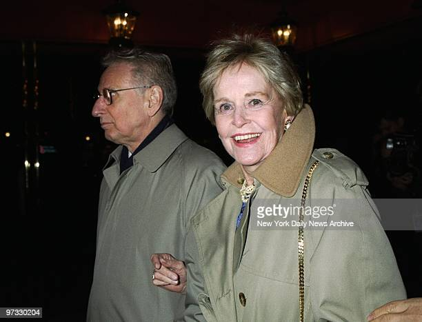 Diana Dill arrives at the Russian Tea Room for a rehearsal dinner on the eve of the wedding of her son Michael Douglas to Catherine ZetaJones