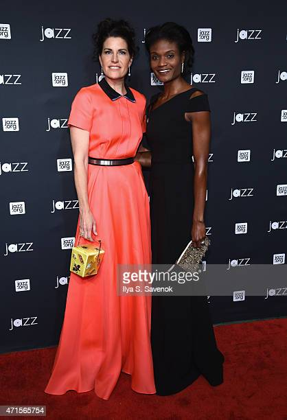 Diana DiMenna and Kimberly Ayers Shariff attend Jazz At Lincoln Center's 2015 Annual Gala at Jazz At Lincoln Center at the Times Warner Center on...