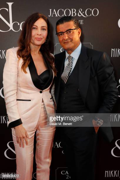 Diana Dimentieva and Jacob Arabo attend the Jacob Co Cannes 2018 party at Nikki Beach on May 16 2018 in Cannes France