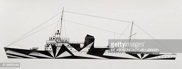 Diana dispatch boat Italy drawing