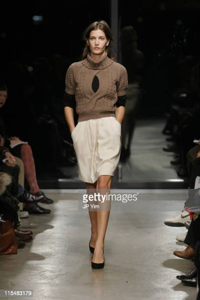 Diana Dondoe wearing Bruce Fall 2007 during MercedesBenz Fashion Week Fall 2007 Bruce Runway at Bumble and Bumble in New York City New York United...