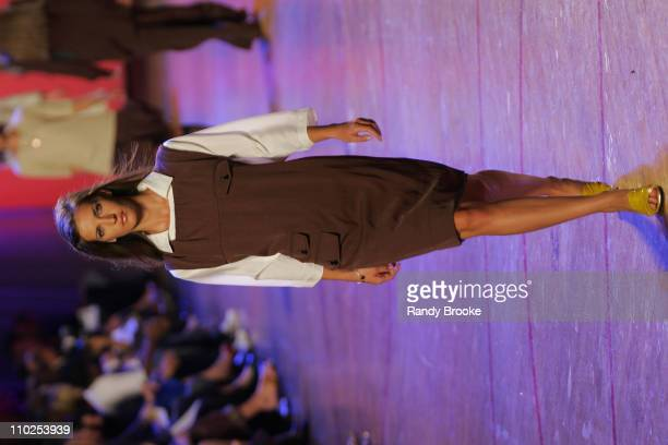Diana Dondoe wearing Marc Jacobs Spring 2006 during Olympus Fashion Week Spring 2006 Marc Jacobs Runway at NY State Armory in New York City New York...