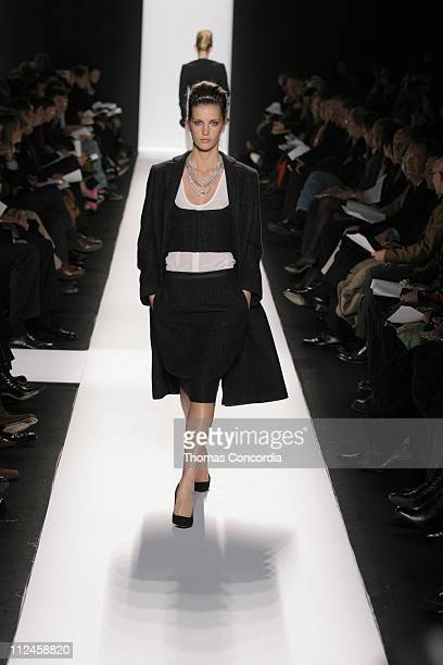 Diana Dondoe wearing Narciso Rodriguez Fall 2005 during Olympus Fashion Week Fall 2005 Narciso Rodriguez Runway at The Tent Bryant Park in New York...