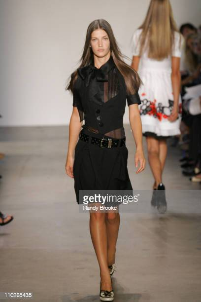 Diana Dondoe wearing PHi Spring 2006 during Olympus Fashion Week Spring 2006 PHi Runway at Bryant Park in New York New York United States