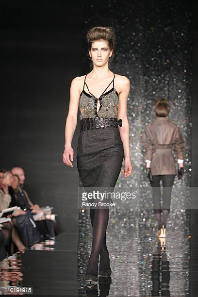 Diana Dondoe wearing Proenza Schouler Fall 2004 during Olympus Fashion Week Fall 2004 Proenza Schouler Runway at The Studio at Bryant Park in New...
