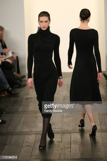 Diana Dondoe wearing Ralph Lauren Fall 2004 during Olympus Fashion Week Fall 2004 Ralph Lauren Runway at Dia Annex in New York City New York United...
