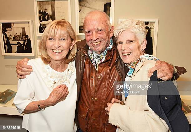 Diana Donovan, David Bailey and Harriet Wilson attend a private view of 'Terence Donovan: Speed Of Light' at The Photographers' Gallery on July 14,...