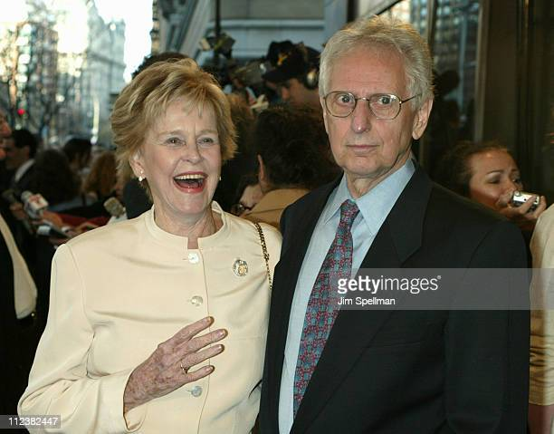 Diana Douglas and companion during It Runs in the Family New York Premiere Outside Arrivals at Loews Lincoln Square in New York City New York United...