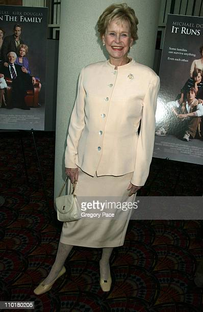 Diana Douglas during It Runs In The Family New York Premiere at Loews Lincoln Square in New York New York United States
