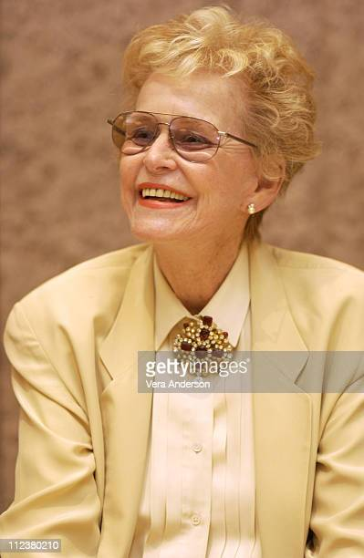 """Diana Douglas during """"It Runs in the Family"""" Press Conference with Michael Douglas, Kirk Douglas, Diana Douglas and Cameron Douglas at The Four..."""