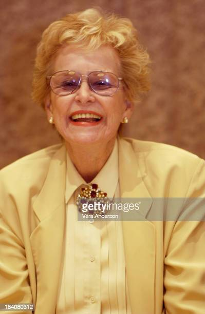 Diana Douglas during It Runs in the Family Press Conference with Michael Douglas Kirk Douglas Diana Douglas and Cameron Douglas at The Four Seasons...