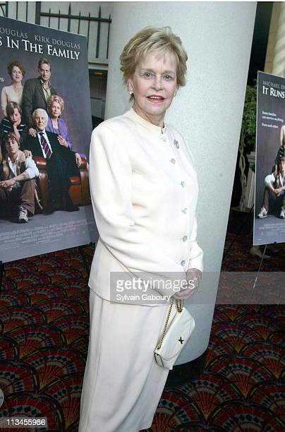 Diana Douglas during MGM's New York Premiere of It Runs in the Family at Loew's Lincoln Square in New York New York United States