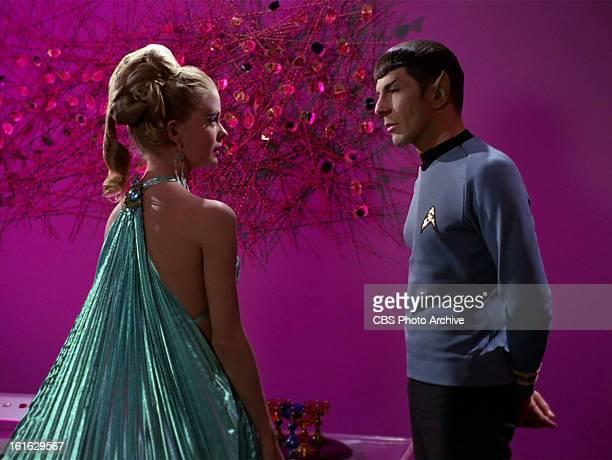Diana Ewing as Droxine and Leonard Nimoy as Mr Spock in the STAR TREK THE ORIGINAL SERIES episode The Cloud Minders Season 3 episode 21 Original air...
