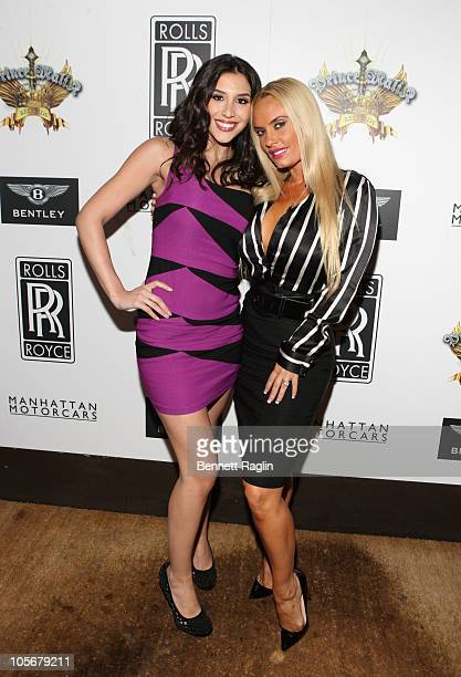 Diana Falzone and Coco attend the Prince Malik Records label launch party at 1OAK on October 18 2010 in New York City