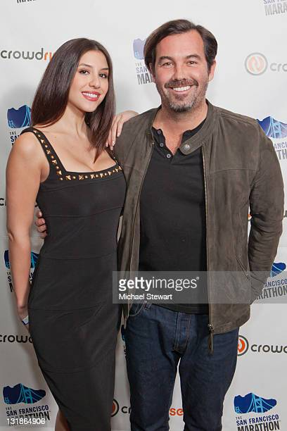 Diana Falzone and Duncan Sheik celebrate Gotham to Golden Gate The San Francisco Marathon and Crowdwise Partnership launch party at Gansevoort Park...