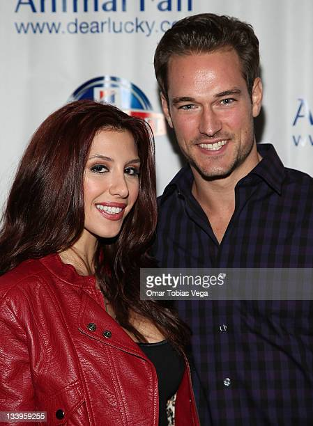Diana Falzone and Robert Knips attend the 2011 Paws For Style Benefit at the Muse Hotel on November 22 2011 in New York City