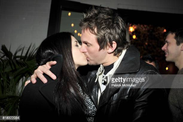 Diana Falzone and Scott Hawkins attend THE PURPLE Fashion Magazine After Party at Gramercy Park Hotel on February 14 2010 in New York City