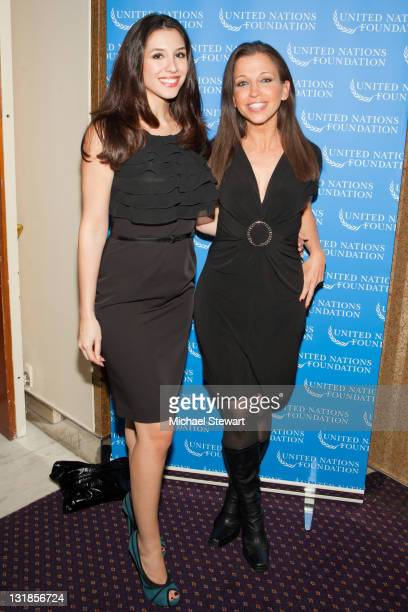 Diana Falzone and Wendy Diamond attend a reception honoring Amir Dossal at Millenium UN Plaza Hotel on November 9 2010 in New York City