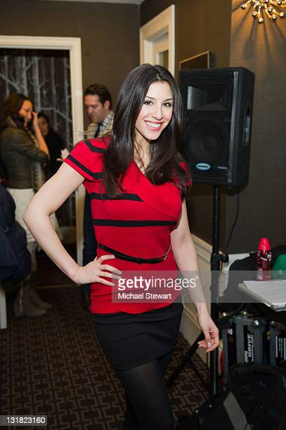 Diana Falzone attends the L3 Lounge for Fall 2011 Fashion Week at the Empire Hotel on February 14 2011 in New York City