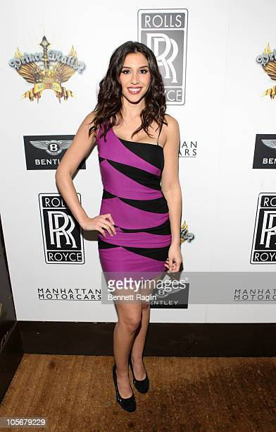 Diana Falzone attends the Prince Malik Records label launch party at 1OAK on October 18 2010 in New York City