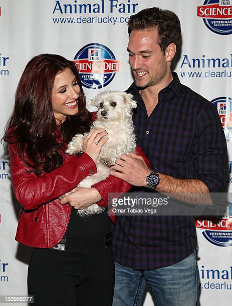 Diana Falzone Lucky Diamond and Robert Knips attend the 2011 Paws For Style Benefit at the Muse Hotel on November 22 2011 in New York City