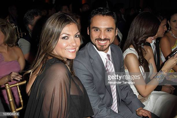 Diana Franco and Rodrigo de la Rosa attend screening of Telemundo's 'Alguien Te Mira' at The Biltmore Hotel on September 7 2010 in Coral Gables...